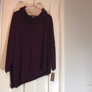 Chico's cowl neck sweater with a bias cut  NWT